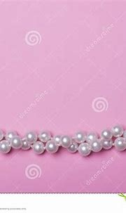 Pearls on pink background. stock image. Image of accessory ...