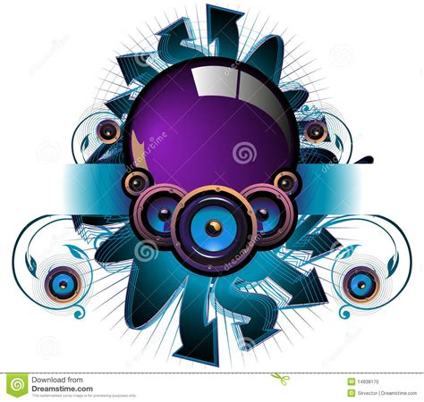 Comp Backgrounds Speaker Comp In Light Background Stock Vector Image