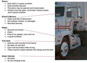 pre trip inspection tractor trailer cdl test com cdl