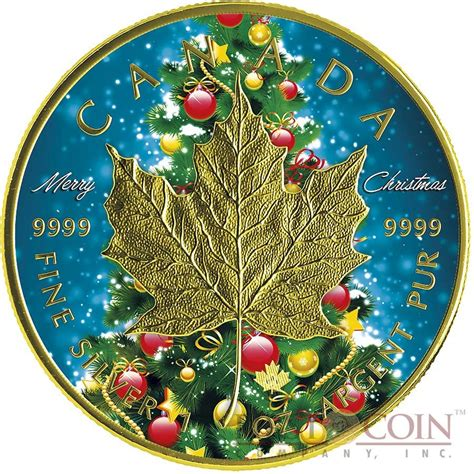 canada merry christmas maple leaf  canadian silver maple