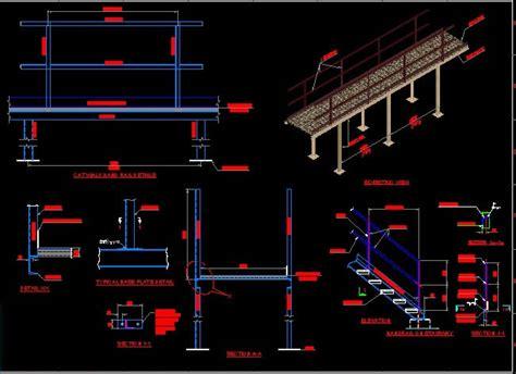 walkway platform  autocad cad   mb bibliocad