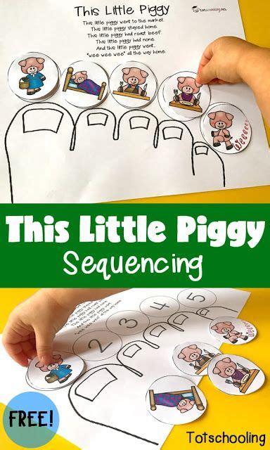 this piggy sequencing totschooling 510 | d2bd4d1e7bf92b5be86136a2de33b4f3