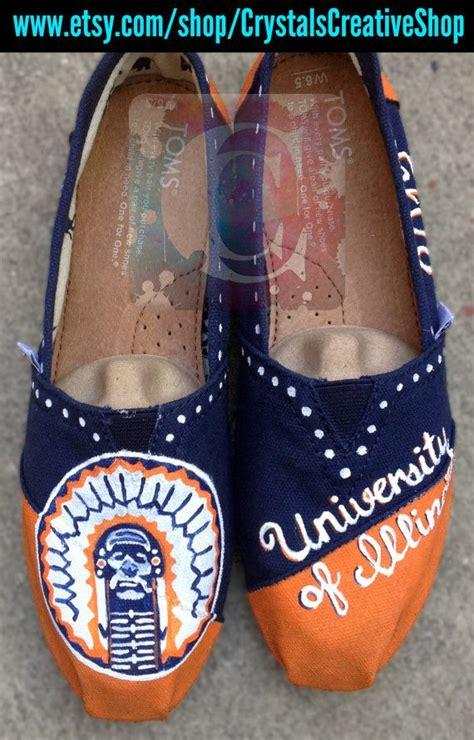 university  illinois illini custom shoes
