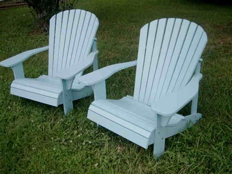 handcrafted adirondack chairs light blue