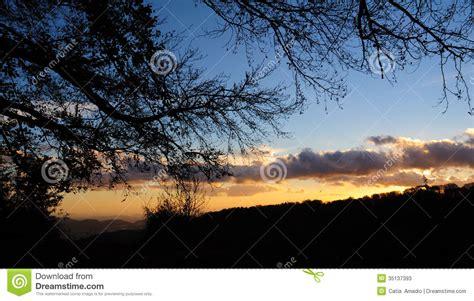 Backlight Landscape Stock Photos Image 35137393
