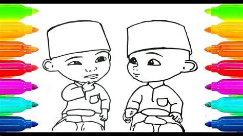 draw upin ipin coloring book  kids learning