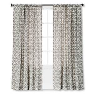 threshold farrah fretwork curtain panel target