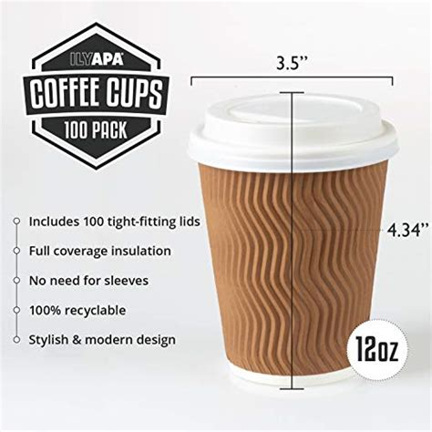 Hot cup, cold cup, tea cup, drinking cup, jelly cups, food packaging, universal packaging, pharmaceutical packaging, gift personalized custom printing recyclable disposable demitasse aluminum coffee cup with smooth edge top neck for ice cream. 12 oz To Go Coffee Cups with Lids - 100 Disposable ...