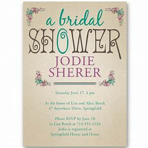 affordable vintage bridal shower invitations ewbs040 as With wedding shower invitations with photo