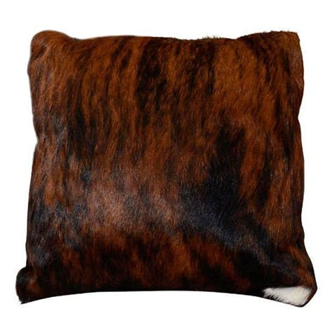 Brindle Cowhide Pillows - custom brindle cowhide pillow for sale at 1stdibs