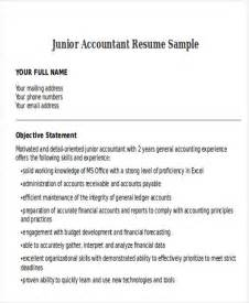 Junior Accountant Resume Templates by 33 Accountant Resumes In Doc Free Premium Templates