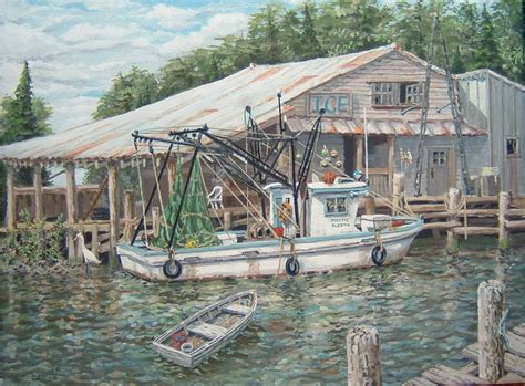 Buy Shrimp Off The Boat Louisiana 2017 by Shrimp Boat The Paintings Of Capt Dennis Miner