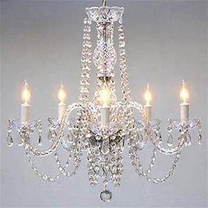 Authentic all crystal chandelier chandeliers ebay for Ebay chandeliers