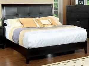 Enrico, I, Espresso, Leatherette, King, Platform, Bed, From, Furniture, Of, America, Cm7088ek