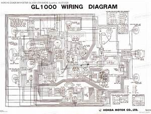 Wiring Diagram Poster Gl1000 59x84cm Forum
