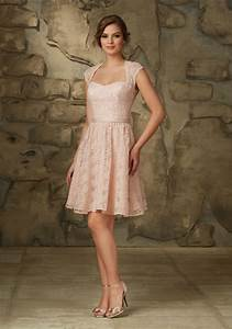 romantic lace bridesmaid dress with cap sleeves and With robe de cocktail gris perle