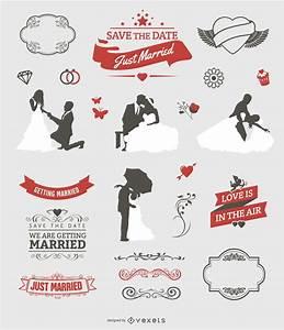 Wedding graphic set- Free Vector