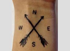 Tatouage Homme Fleche Boussole Tattoo Art