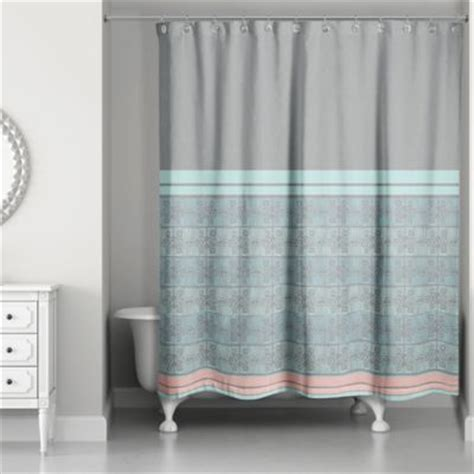 buy boho tribal shower curtain in mint blue from bed bath