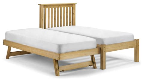 pull out mattress abdabs furniture barcelona pine pull out bed with mattresses