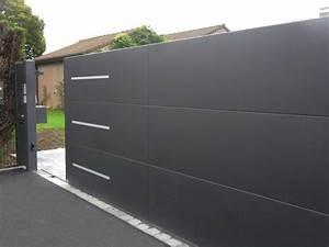 Portail Coulissant Motorisé 4m : horizon portail aluminium sur mesure europortail ~ Dailycaller-alerts.com Idées de Décoration