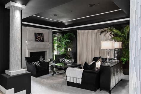 black  white living room designs design trends