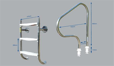 Plastica Grabrails And Undercover Stainless Steel Pool Ladder