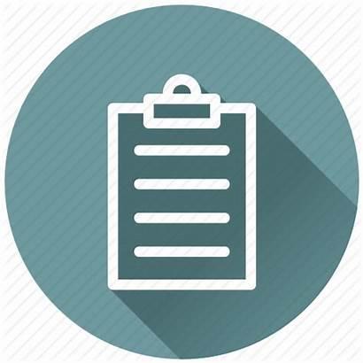 Icon Exam Flat Paper Board Checklist Report