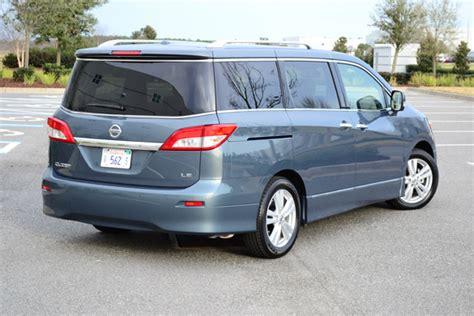 nissan quest rear 2012 nissan quest le minivan review test drive