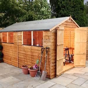 12x8 wooden apex shed overlap garden sheds door felt osb roof windows ebay