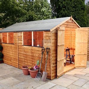 6 X 8 Foot Wooden Shed by 12x8 Wooden Apex Shed Overlap Garden Sheds Door