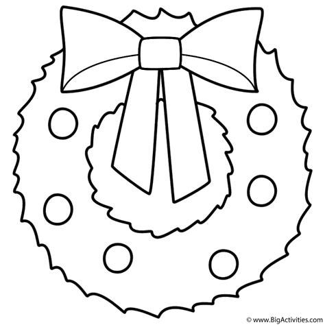 christmas wreath coloring page christmas