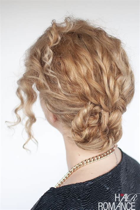 easy curly braided bun tutorial hair romance