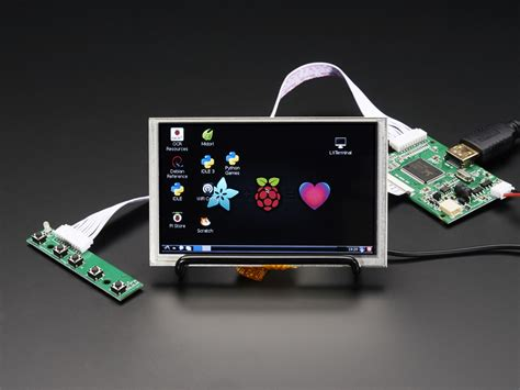 mini hdmi display hdmi 4 pi 5 display w touch and mini driver 800x480