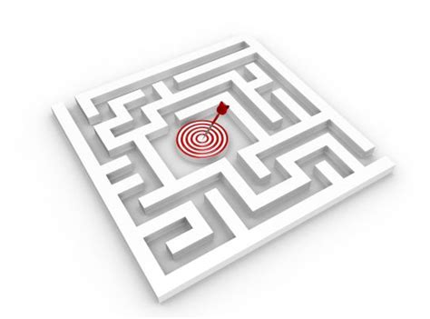 square maze  target dart   middle stock photo