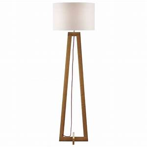 Dar lighting wisconsin modern wooden floor lamp base only for Homebase chandelier floor lamp