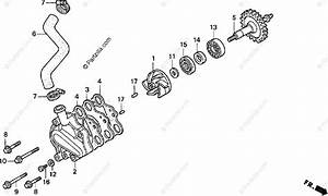 Honda Motorcycle 1999 Oem Parts Diagram For Water Pump