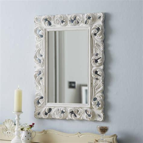 large ornate mirror carved antique white ebay