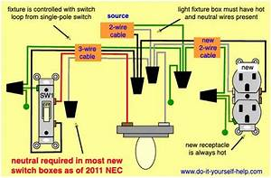 Wiring Diagram To Add A New Outlet Off A Light Fixture In
