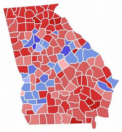Georgia Election Results County Governor Svg Gubernatorial