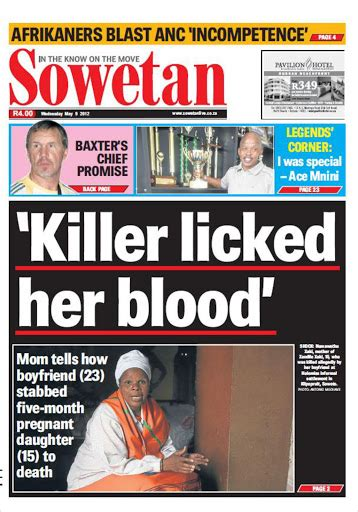 Best News For Today In Sowetan Newspaper Today