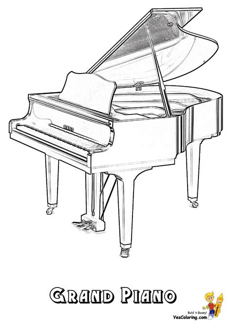 piano coloring pages mighty piano musical instrument coloring piano free