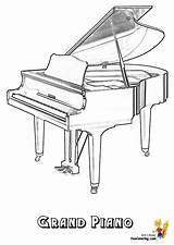 Piano Musical Coloring Pages Grand Instruments Instrument Yescoloring Harpsichord Cool Keyboard Pianos Template Tree Mighty Magic Templates sketch template