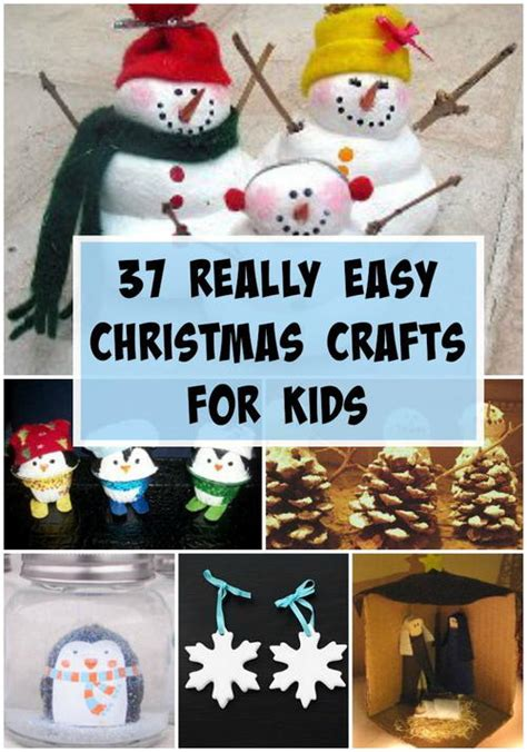 37 really easy crafts for allfreechristmascrafts - Really Easy Christmas Crafts