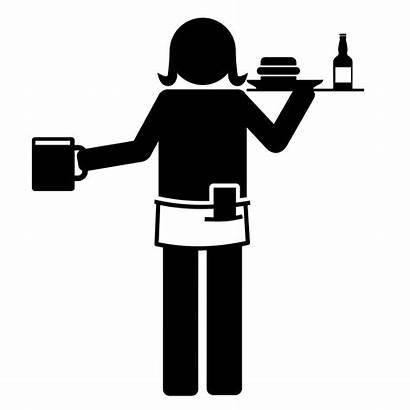 Waiter Restaurant Clipart Worker Transparent Waitress Restaurants