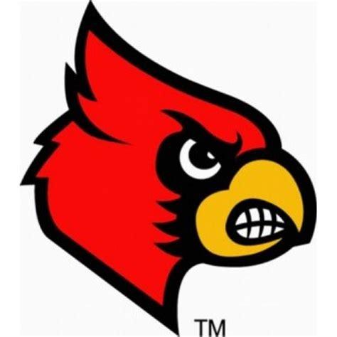 louisville cardinals cardinal logo decal