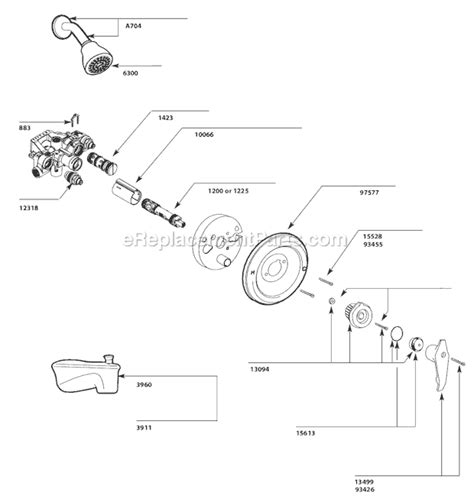pegasus kitchen faucet moen 3150 parts list and diagram ereplacementparts com