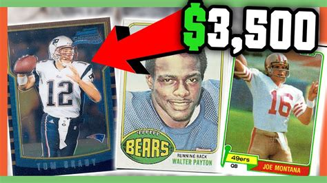 rare football cards worth money valuable cards