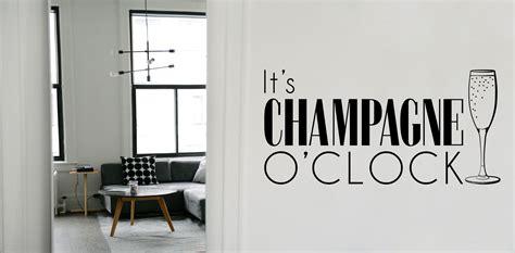 champagne oclock vinyl sticker wall art company