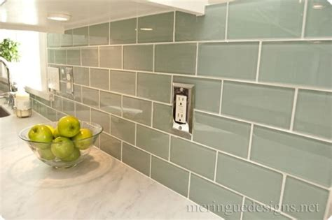 3x6 glass tile by dal tile in whisper green and